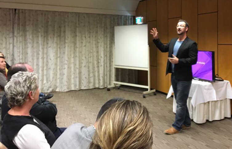 Speaking at a Business Night